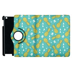 Summer Pineapples Fruit Pattern Apple iPad 2 Flip 360 Case