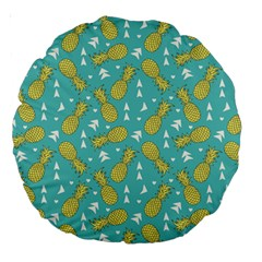 Summer Pineapples Fruit Pattern Large 18  Premium Round Cushions