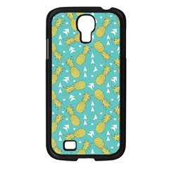 Summer Pineapples Fruit Pattern Samsung Galaxy S4 I9500/ I9505 Case (Black)