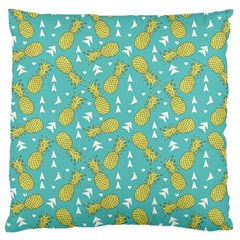 Summer Pineapples Fruit Pattern Large Flano Cushion Case (One Side)