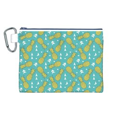 Summer Pineapples Fruit Pattern Canvas Cosmetic Bag (L)