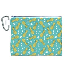 Summer Pineapples Fruit Pattern Canvas Cosmetic Bag (XL)