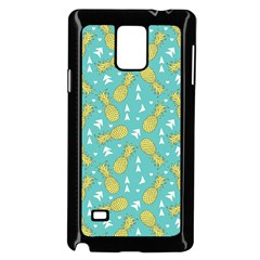 Summer Pineapples Fruit Pattern Samsung Galaxy Note 4 Case (Black)