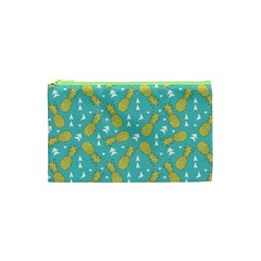 Summer Pineapples Fruit Pattern Cosmetic Bag (XS)