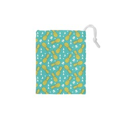 Summer Pineapples Fruit Pattern Drawstring Pouches (xs)