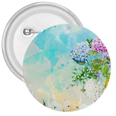 Watercolor Fresh Flowery Background 3  Buttons