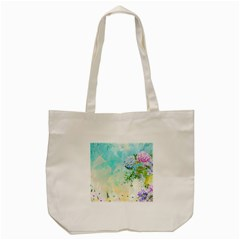 Watercolor Fresh Flowery Background Tote Bag (Cream)