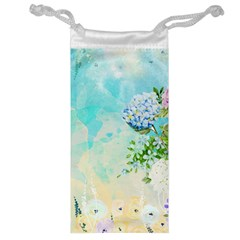 Watercolor Fresh Flowery Background Jewelry Bags