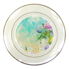 Watercolor Fresh Flowery Background Porcelain Plates