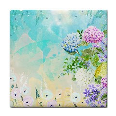 Watercolor Fresh Flowery Background Face Towel