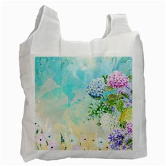 Watercolor Fresh Flowery Background Recycle Bag (One Side)