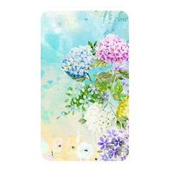 Watercolor Fresh Flowery Background Memory Card Reader