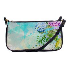 Watercolor Fresh Flowery Background Shoulder Clutch Bags