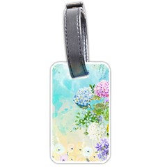 Watercolor Fresh Flowery Background Luggage Tags (One Side)