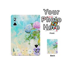 Watercolor Fresh Flowery Background Playing Cards 54 (mini)
