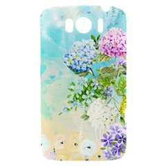 Watercolor Fresh Flowery Background HTC Sensation XL Hardshell Case