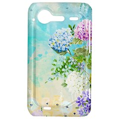 Watercolor Fresh Flowery Background HTC Incredible S Hardshell Case