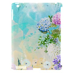 Watercolor Fresh Flowery Background Apple iPad 3/4 Hardshell Case (Compatible with Smart Cover)