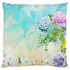 Watercolor Fresh Flowery Background Large Cushion Case (Two Sides)