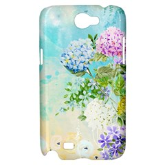 Watercolor Fresh Flowery Background Samsung Galaxy Note 2 Hardshell Case