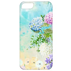 Watercolor Fresh Flowery Background Apple iPhone 5 Classic Hardshell Case