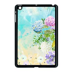 Watercolor Fresh Flowery Background Apple iPad Mini Case (Black)