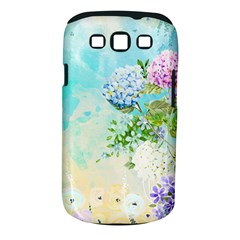 Watercolor Fresh Flowery Background Samsung Galaxy S III Classic Hardshell Case (PC+Silicone)