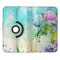 Watercolor Fresh Flowery Background Samsung Galaxy Note II Flip 360 Case