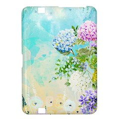 Watercolor Fresh Flowery Background Kindle Fire HD 8.9