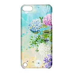 Watercolor Fresh Flowery Background Apple iPod Touch 5 Hardshell Case with Stand