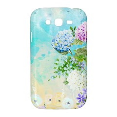 Watercolor Fresh Flowery Background Samsung Galaxy Grand DUOS I9082 Hardshell Case