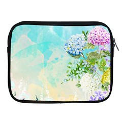 Watercolor Fresh Flowery Background Apple iPad 2/3/4 Zipper Cases
