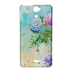 Watercolor Fresh Flowery Background Sony Xperia V