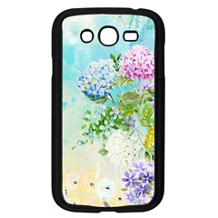 Watercolor Fresh Flowery Background Samsung Galaxy Grand DUOS I9082 Case (Black)