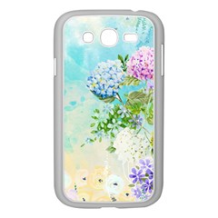 Watercolor Fresh Flowery Background Samsung Galaxy Grand DUOS I9082 Case (White)