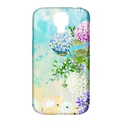Watercolor Fresh Flowery Background Samsung Galaxy S4 Classic Hardshell Case (PC+Silicone)