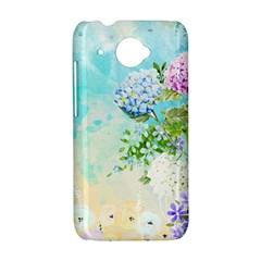 Watercolor Fresh Flowery Background HTC Desire 601 Hardshell Case