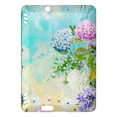 Watercolor Fresh Flowery Background Kindle Fire HDX Hardshell Case