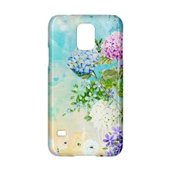 Watercolor Fresh Flowery Background Samsung Galaxy S5 Hardshell Case