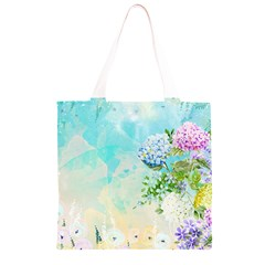 Watercolor Fresh Flowery Background Grocery Light Tote Bag