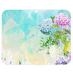 Watercolor Fresh Flowery Background Double Sided Flano Blanket (Medium)