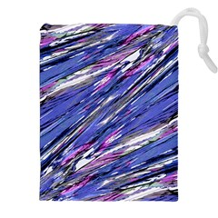 Abstract Collage Print Drawstring Pouches (xxl)