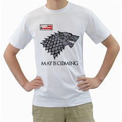 IndySpeedway May is Coming Men s Two-sided T-shirt (White)