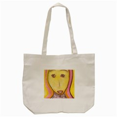 Portrait of Archangel Michael, Spiritual Chalks Drawing Tote Bag (Cream)