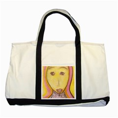 Portrait of Archangel Michael, Spiritual Chalks Drawing Two Tone Tote Bag