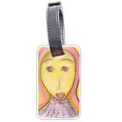 Portrait of Archangel Michael, Spiritual Chalks Drawing Luggage Tags (Two Sides)