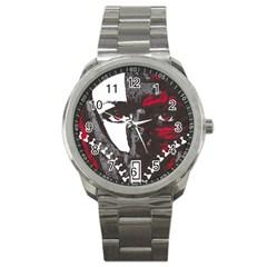 Zipper Face Sport Metal Watch