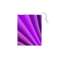 Gentle Folds Of Purple Drawstring Pouches (XS)