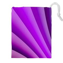 Gentle Folds Of Purple Drawstring Pouches (xxl)