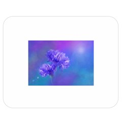 Purple Cornflower Floral  Double Sided Flano Blanket (medium)